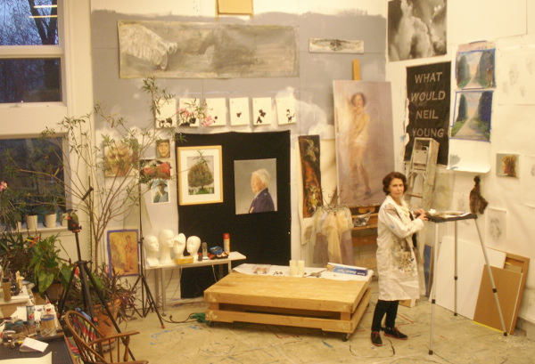 Annette Polan in her Forest Hills Studio (photo by Lee Armfield Cannon)
