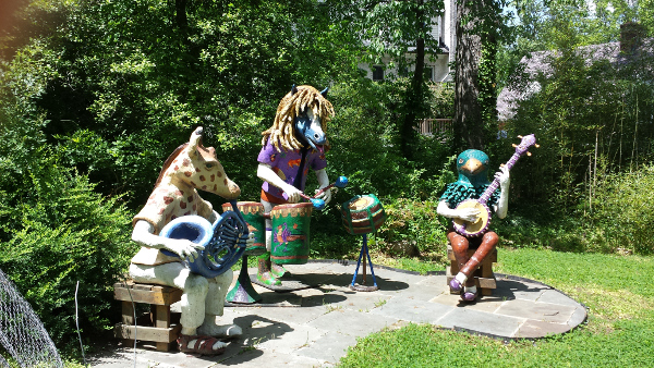 This band helped create a festive mood in Joan Danziger's yard.