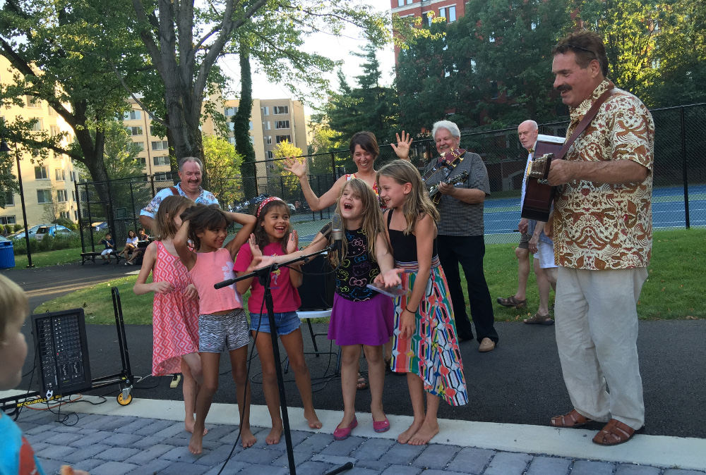 The Big Hillbilly Bluegrass Band, seen in this July 2015 photo, will return to Forest Hills Park on July 29.