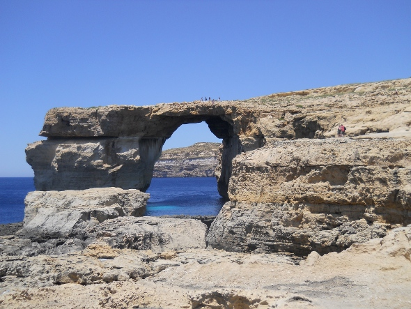One of Malta's most famous natural features, the Azure Window on the island of Gozo.