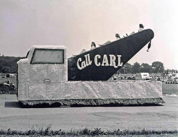 """""""Call Carl"""" float by Earl Hargrove, Washington Monument Centennial Celebration, Washington, D.C., 1948, courtesy Earl C. Hargrove Collection at the Smithsonian Museum of American History"""