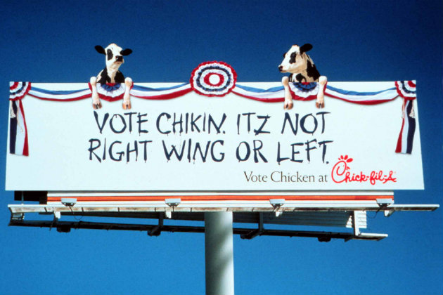 Chick-fil-a billboard