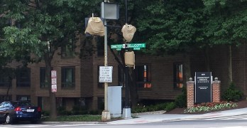 Pedestrian signal at Connecticut and Ellicott almost ready