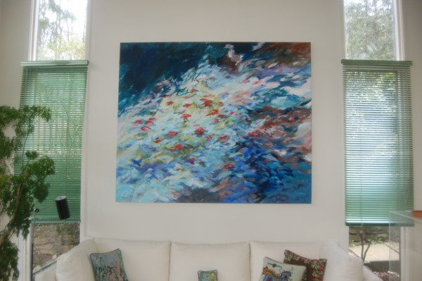 This untitled painting by Dorothy Fall now hangs in Dorn McGrath's home.