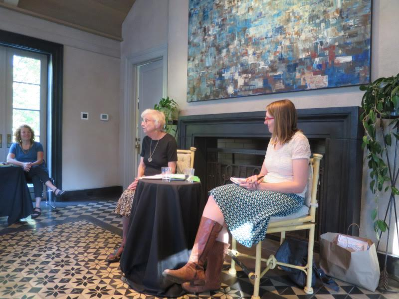 Inside, Margery Elfin said a few words about the process of writing her book before doing the Q&A with FHC editor Tracy Johnke and taking questions from the audience.