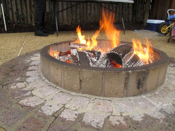 Bill and Suzy Menard's backyard fire pit. (all photos by the author)
