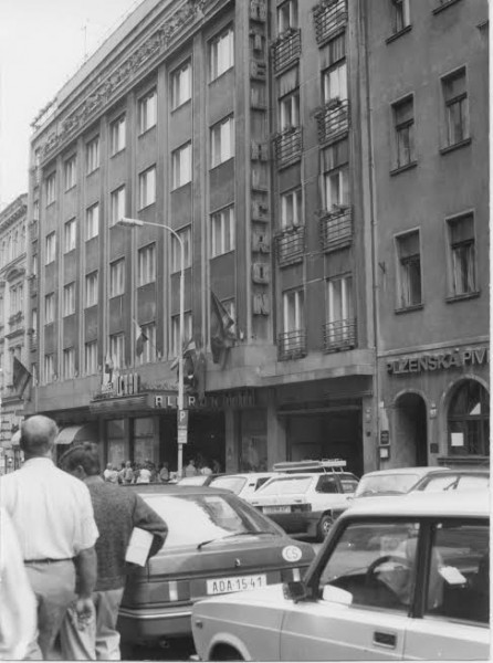 Hotel Alcron exterior, date unknown. (photo courtesy of the Hotel Alcron archives)