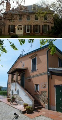 The Menards' homes, in Forest Hills, DC, and in Italy.