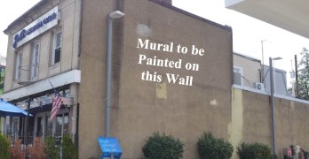 What should be on an outdoor mural at Jake's American Grille?