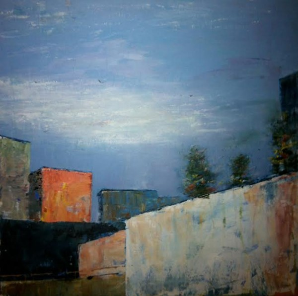"""Lithell's """"Lindengasse 11, Vienna"""" was part of a juried exhibit in December at The Art League in Alexandria."""