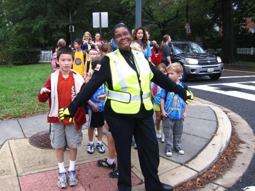 Walk to School Day at Murch elementary in 2012.
