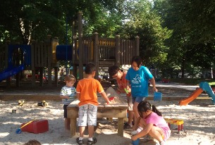 Playground board members would like a sandbox to remain a feature of the playground.
