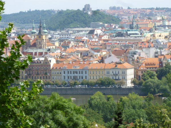 View of Prague from Petrin Hill.