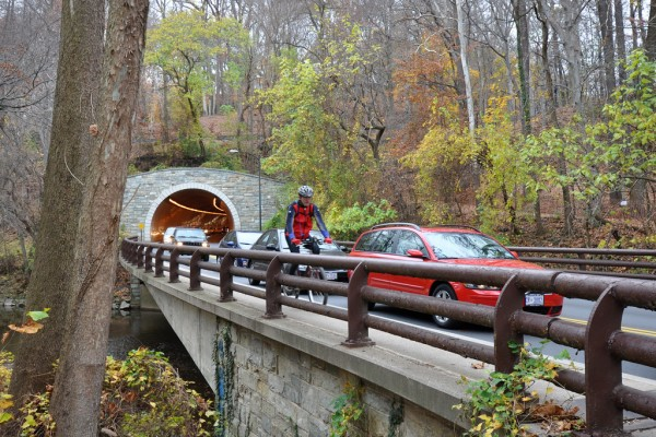 A new trail bridge is coming to the Rock Creek Park Trail at the zoo tunnel. (Photo courtesy of M.V. Jantzen on Flickr; click to see the original)