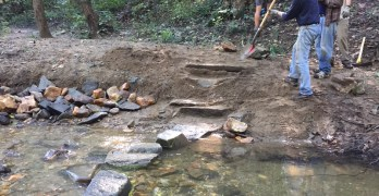 Volunteers repair storm damage on the Soapstone Valley trail