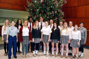 """St. John's College High School's choral group, """"Vocal Resonance."""""""