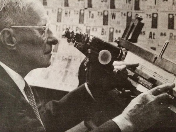 Meggers at work. (courtesy of the National Institute of Standards and Technology digital archives)