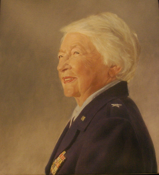 Polan's portrait of Air Force Brig. Gen. Wilma Vaught.