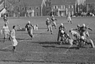 A 1943 football game at Wilson High School. (photo courtesy Library of Congress)