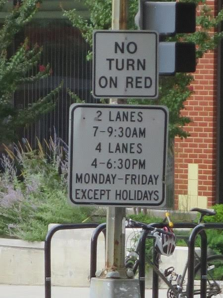 Hours for the reversible rush hour lanes have not changed.