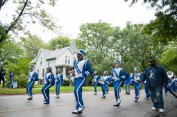 Proviso East marching band performing in their Homecoming parade on Saturday in Maywood. | Photo by Shanel Romain