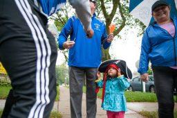 Brooklyn Garcia, 2, wears her Proviso East pirate. | Photo by Shanel Romain
