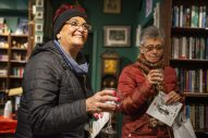 Margie Coleman, of Forest Park, and Kim Lavin, of Berwyn, savor a sip at Centuries and Sleuths Bookstore. | Alex Rogals/Staff Photographer
