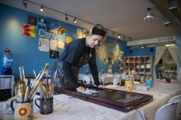 Creativita owner Jessica Luciano, with a background in both art and business, appreciates that her studio is a place where people can relax. | Alex Rogals, Staff Photographer