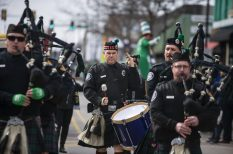 A marching band at the 2019 St. Patrick's Day parade. The 2020 event will be held on March 7, kicking off at 1 p.m. on Madison Street. | File photo