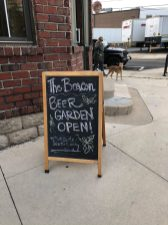 The Beacon Pub's beer garden at 101 Circle Ave. was open for outside service on May 29.
