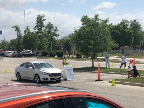 Free COVID-19 drive-up testing is available at Walmart, 1300 Desplaines Ave., in the northwest corner of the parking lot. Appointments must be made in advance.