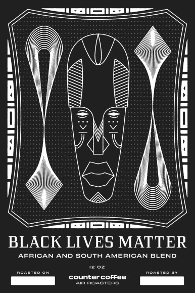 Jeremiah Shalo, son of Counter Coffee owner Jaques Shalo, designed the bags for the Black Lives Matter Blend.