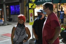 Artist and Pilsen Art House founder Lori Ranker (left), Trevor Toppen, and Tom Kunkel | Photo by Jill Wagner