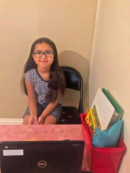 District 91 students, like 3rd grader Abby, have started the school year remotely. | Photo provided