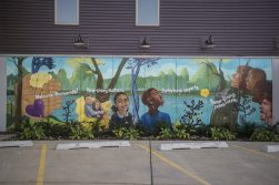 A new mural graces an outside wall of Sarah's Inn. | Alex Rogals, Staff Photographer