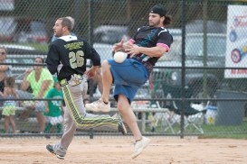 Yep was able to score on this bobbled play against Dynasty. (David Pierini/staff photographer)