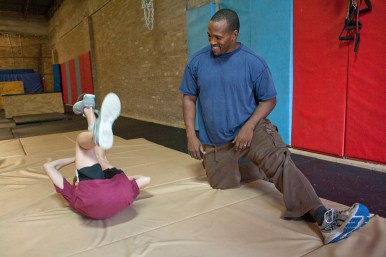 Canada using the profits from his Forest Park Parkour classes to train young acrobats in the Austin neighborhood.