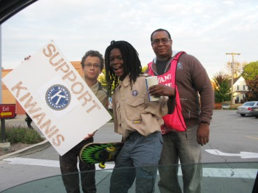 Boy Scouts Jah Alleyne and Wesley Cannon. (JEAN LOTUS/Staff)