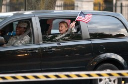 Soldiers returned honking horns and waving flags. Members of the Forest Park U.S. Army Reserve 300th Human Resources Company were welcomed home from Afghanistan Thursday at The Park. (David Pierini/staff photographer)