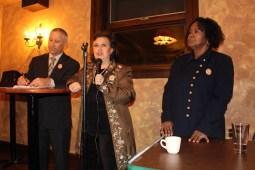 L-R Ned Wagner, Claudia Medina and Theresa Kelly. Photo: Anahi Gasse