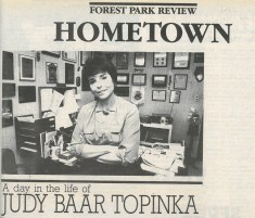 State Senator Judy Baar Topinka interviewed in the Review in 1988.