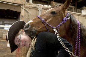 Miranda Binns-Calvey of Forest Park shipped off to college in Montana to study natural horsemanship. She brought Sugar, her horse. (File photo)