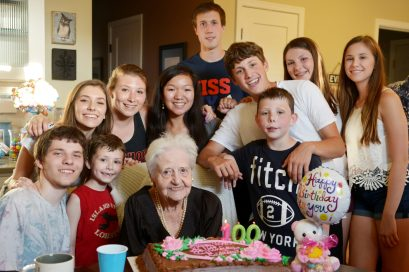 Millie Spinelli celebrated with her 100th birthday with her family. | Courtesy edspinelliphotography