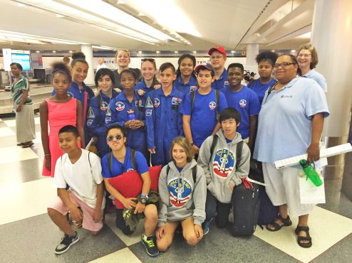 Michaela Dennis (backrow, center) and the rest of her crew spent a week with NASA in Huntsville, Alabama.   Courtesy Michaela Dennis