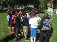 Participating in team building activities