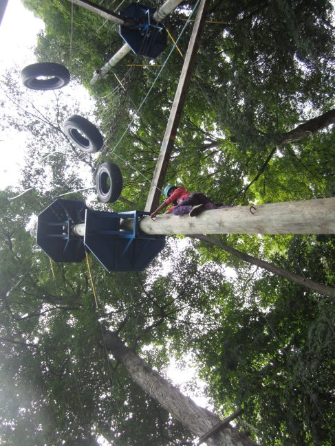 Eeeek! The high ropes can be scary!