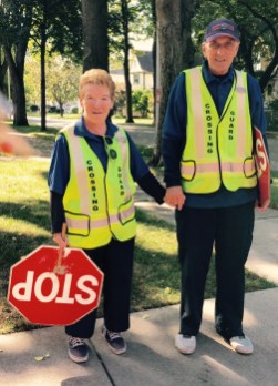 Kathy and Jim head to their respective corners for another day of helping students cross safely. | JACKIE SCHULZ/Contributor