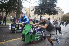 The first casket race took off around 10 in the morning. | William Camargo/Staff Photographer