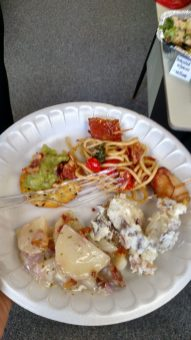 One delicious plate of food! - Photo courtesy of Alicia Plomin