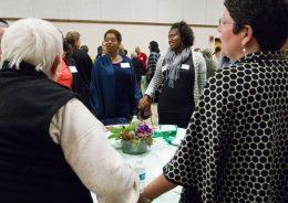 (Center)Michelle Collins, ABC Bank. | JENNIFER LACEY/Contributor